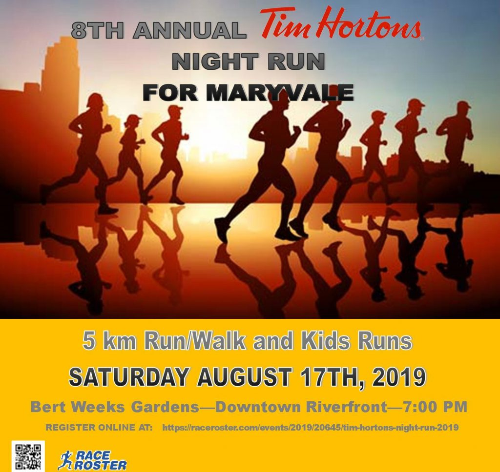 8th Annual Tim Hortons Night Run for Maryvale